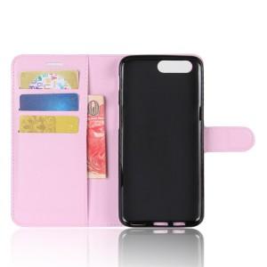 Чехол портмоне подставка на силиконовой основе с отсеком для карт на магнитной защелке для Asus ZenFone 4 Max  Розовый
