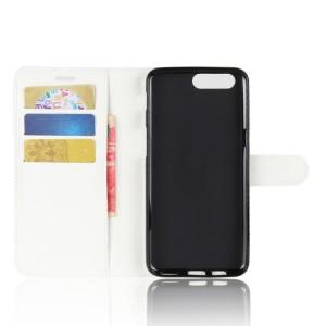 Чехол портмоне подставка на силиконовой основе с отсеком для карт на магнитной защелке для Asus ZenFone 4 Max  Белый