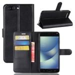 Чехол портмоне подставка на силиконовой основе с отсеком для карт на магнитной защелке для Asus ZenFone 4 Max