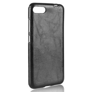 Чехол накладка текстурная отделка Кожа для Asus ZenFone 4 Max  Черный