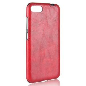 Чехол накладка текстурная отделка Кожа для Asus ZenFone 4 Max  Красный
