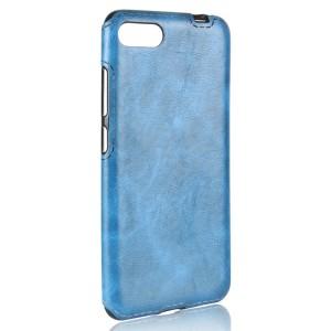 Чехол накладка текстурная отделка Кожа для Asus ZenFone 4 Max  Голубой