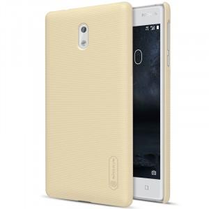 Пластиковый непрозрачный матовый нескользящий премиум чехол с повышенной шероховатостью для Nokia 3