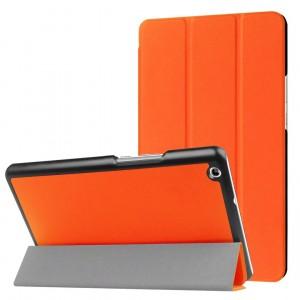 Сегментарный чехол книжка подставка на непрозрачной поликарбонатной основе для Huawei MediaPad M3 Lite 8