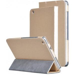 Сегментарный чехол книжка подставка текстура Золото с рамочной защитой экрана и магнитной защелкой для Huawei MediaPad M3 Lite 8