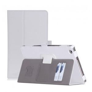 Чехол книжка подставка с рамочной защитой экрана, крепежом для стилуса, отсеком для карт и поддержкой кисти для Huawei MediaPad M3 Lite 8