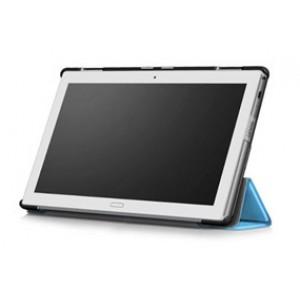 Сегментарный чехол книжка подставка на непрозрачной поликарбонатной основе для Lenovo Tab 4 10 Plus Голубой