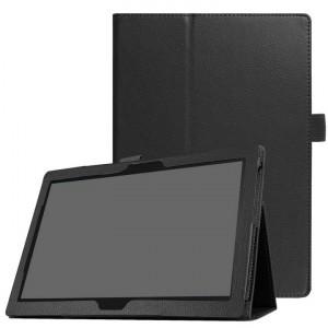 Чехол книжка подставка с рамочной защитой экрана и крепежом для стилуса для Lenovo Tab 4 10/10 Plus Черный