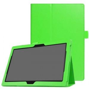 Чехол книжка подставка с рамочной защитой экрана и крепежом для стилуса для Lenovo Tab 4 10/10 Plus Зеленый