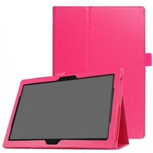 Чехол книжка подставка с рамочной защитой экрана и крепежом для стилуса для Lenovo Tab 4 10/10 Plus