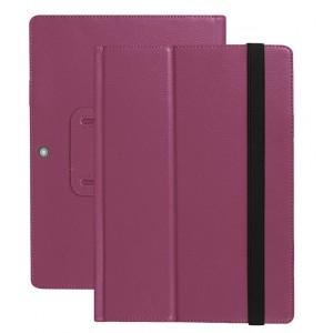 Чехол книжка подставка с рамочной защитой экрана и поддержкой кисти для Lenovo Miix 320 Фиолетовый