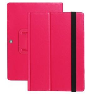 Чехол книжка подставка с рамочной защитой экрана и поддержкой кисти для Lenovo Miix 320 Пурпурный