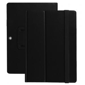 Чехол книжка подставка с рамочной защитой экрана и поддержкой кисти для Lenovo Miix 320 Черный