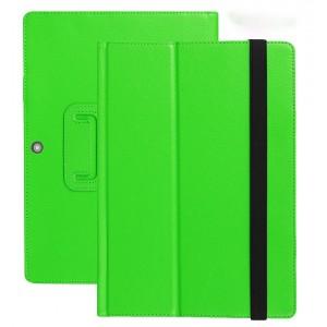 Чехол книжка подставка с рамочной защитой экрана и поддержкой кисти для Lenovo Miix 320 Зеленый