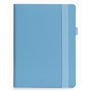 Чехол книжка подставка с рамочной защитой экрана, крепежом для стилуса, отсеком для карт и поддержкой кисти для Lenovo Miix 320  Синий