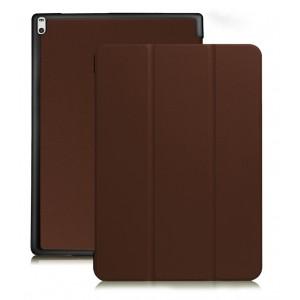 Сегментарный чехол книжка подставка на непрозрачной поликарбонатной основе для Lenovo Tab 4 10 Коричневый