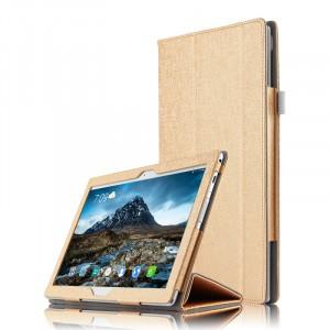 Сегментарный чехол книжка подставка с рамочной защитой экрана и крепежом для стилуса для Lenovo Tab 4 10