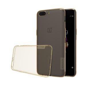 Силиконовый глянцевый транспарентный чехол повышенной защиты для OnePlus 5
