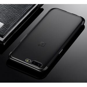 Силиконовый глянцевый полупрозрачный чехол для OnePlus 5