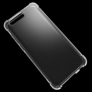 Силиконовый глянцевый чехол с усиленными углами для Huawei Honor 9  Белый