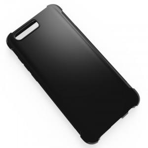 Силиконовый глянцевый чехол с усиленными углами для Huawei Honor 9  Черный