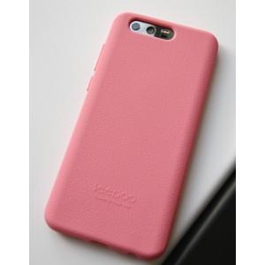 Силиконовый матовый непрозрачный софт-тач премиум чехол для Huawei Honor 9 Розовый