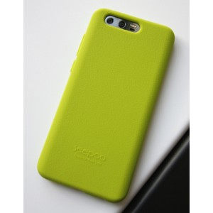 Силиконовый матовый непрозрачный софт-тач премиум чехол для Huawei Honor 9 Зеленый