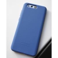 Силиконовый матовый непрозрачный софт-тач премиум чехол для Huawei Honor 9  Синий