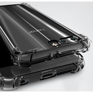 Силиконовый глянцевый транспарентный чехол с усиленными углами для Huawei Honor 9 Черный