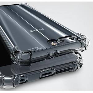 Силиконовый глянцевый транспарентный чехол с усиленными углами для Huawei Honor 9