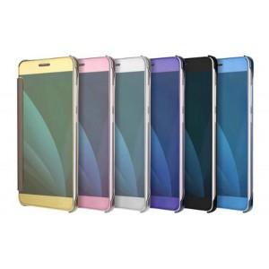 Пластиковый непрозрачный чехол с полупрозрачной крышкой с зеркальным покрытием для Samsung Galaxy J7 (2017)