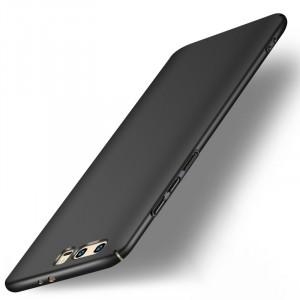 Пластиковый непрозрачный матовый чехол с допзащитой торцов для Huawei Honor 9 Черный
