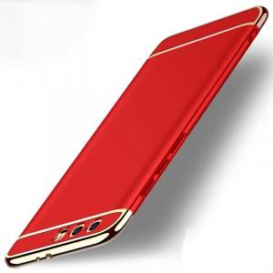 Двухкомпонентный пластиковый непрозрачный матовый чехол сборного типа для Huawei Honor 9 Красный