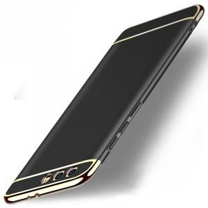 Двухкомпонентный пластиковый непрозрачный матовый чехол сборного типа для Huawei Honor 9 Черный