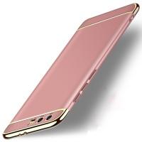 Двухкомпонентный пластиковый непрозрачный матовый чехол сборного типа для Huawei Honor 9  Розовый