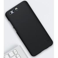 Пластиковый непрозрачный матовый нескользящий премиум чехол для Huawei Honor 9  Черный