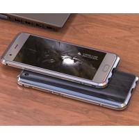 Металлический округлый премиум бампер сборного типа на винтах для Huawei Honor 9  Серый