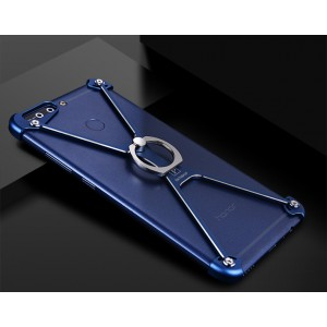 Металлический округлый бампер сборного типа на винтах для Huawei Honor 9  Синий