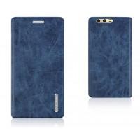 Винтажный чехол портмоне подставка текстура Узоры на силиконовой основе с отсеком для карт для Huawei Honor 9  Синий