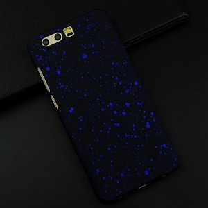 Пластиковый непрозрачный матовый чехол текстура Звезды для Huawei Honor 9 Синий