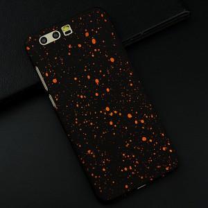 Пластиковый непрозрачный матовый чехол текстура Звезды для Huawei Honor 9 Оранжевый