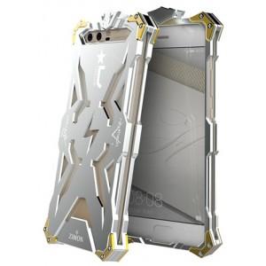 Цельнометаллический противоударный чехол из авиационного алюминия на винтах с мягкой внутренней защитной прослойкой для гаджета с прямым доступом к разъемам для Huawei Honor 9 Белый