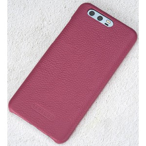 Кожаный чехол накладка (премиум нат. кожа) для Huawei Honor 9  Пурпурный