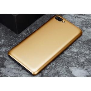Пластиковый непрозрачный матовый металлик чехол для Asus ZenFone 4 Max  Бежевый