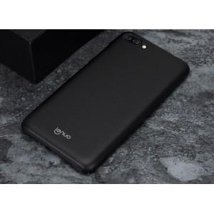 Пластиковый непрозрачный матовый металлик чехол для Asus ZenFone 4 Max  Черный