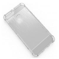 Силиконовый матовый полупрозрачный чехол с усиленными углами и текстурным покрытием Металлик для Xiaomi Mi5X/Mi A1 Белый