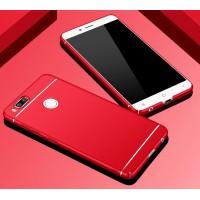 Пластиковый непрозрачный матовый чехол текстура Полосы для Xiaomi Mi5X/Mi A1 Красный