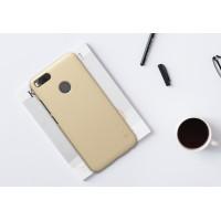 Пластиковый непрозрачный матовый нескользящий премиум чехол с повышенной шероховатостью для Xiaomi Mi5X/Mi A1 Бежевый