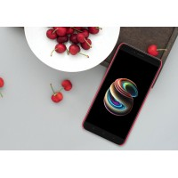 Пластиковый непрозрачный матовый нескользящий премиум чехол с повышенной шероховатостью для Xiaomi Mi5X/Mi A1 Розовый