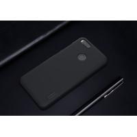 Пластиковый непрозрачный матовый нескользящий премиум чехол с повышенной шероховатостью для Xiaomi Mi5X/Mi A1 Черный
